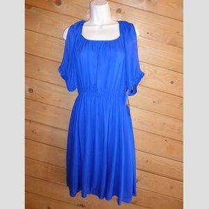 M60 Open Shoulder Elastic Waist Dress NWT 10